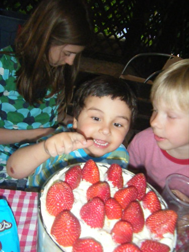 Janko loved the strawberries!