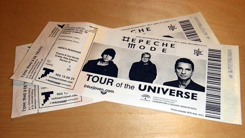 Esperando a Depeche Mode bis.