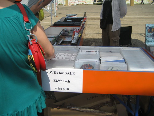 DVDS for sale at Thor Equities Flea Market in Coney Island. Photo by me-myself-i via flickr