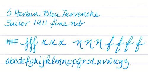 J. Herbin Bleu Pervenche on Rhodia Paper