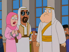 scene from American Dad, Stan of Arabia: part two