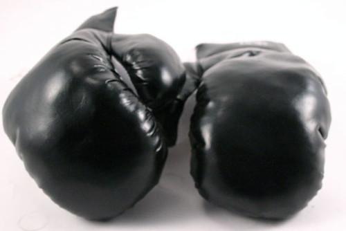 black boxing gloves