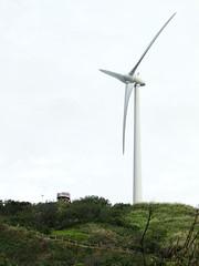 風力發電機與觀景台