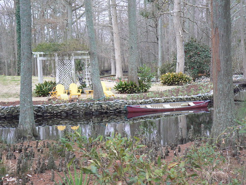 Pond House Inn - Cypress Knees, Chairs and Boats