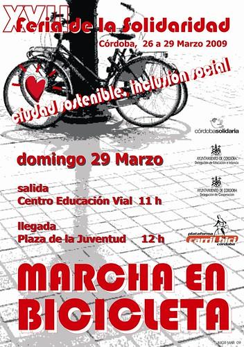 La Plataforma Carril-Bici convoca una marcha en bicicleta el próximo domingo 29 de marzo.