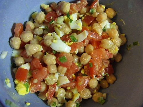 chick pea salad - finished