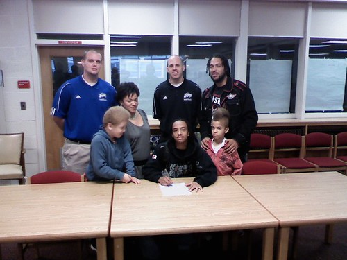 AJ Finney Signing Ceromoney