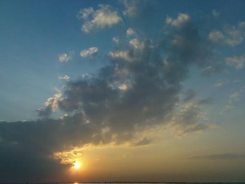 Suasana sunrise di Pantai Sanur