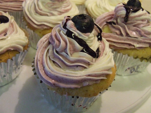 Blueberry custard cupcakes