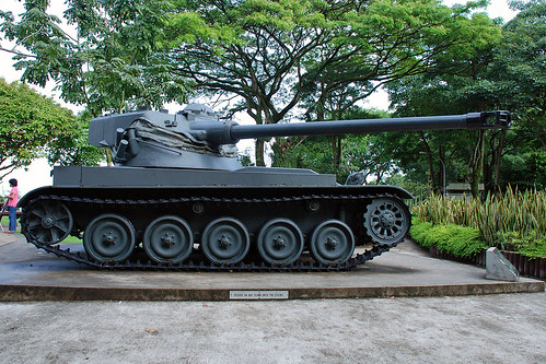 Battle tank at Army Museum of Singapore
