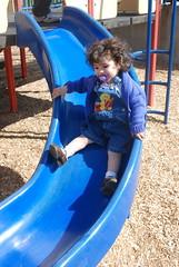 Sliding at the Community Park
