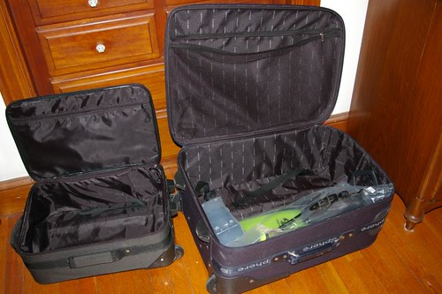 Suitcases, not packed