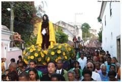 Procissão do Senhor Morto, realizada durante a Semana Santa em Olinda. Foto: Passarinho/Pref.Olinda