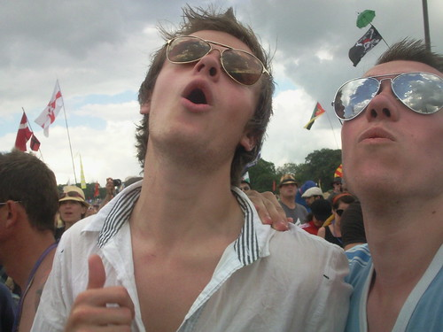 Todd and Ross rock out at Glastonbury '09