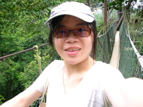 我在吊橋上的自拍照