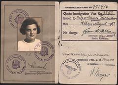 Helga Rome's Passport