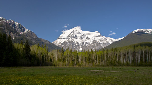 Mount Robson as seen from the Visitor Centre