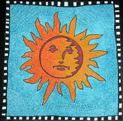 Blazing Sun Van Gogh Technique