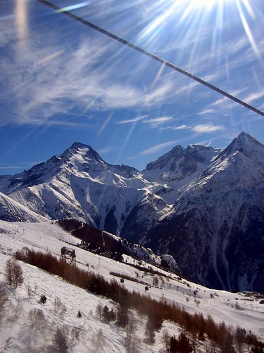 The Alps seen from Deux Alpes.