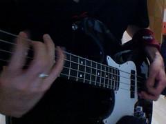 Playing my bass guitar