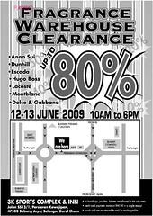 Fragrance warehouse sale