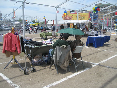 Vendors at Thor Equities Flopped Flea Market, Coney Island. Photo by me-myself-i/Tricia Vita via flickr
