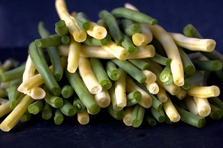 green and yellow beans