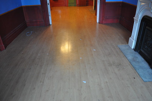 Laminate floors before