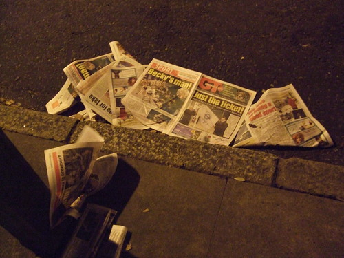 Flytipped Greenwich Council newspapers