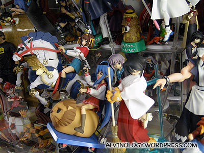 All kinds of plastic figurines, all over