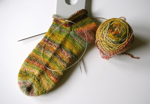 Sock Hop sock in progress