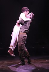Ma-Anne Dionisio as Kim and Eric Kunze as Chris in Miss Saigon at Music Circus August 23-28. Photo by Charr Crail.