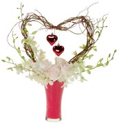 Valentine's Day Heart — Leanne and David Kesler, Floral Design Institute, Inc., in Portland, Ore.