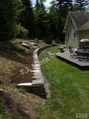 WM T.J. Mora 8, Retaining wall, dry laid stone construction, copyright 2014