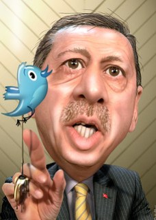 Recep Tayyip Erdogan - Twitter Splatter