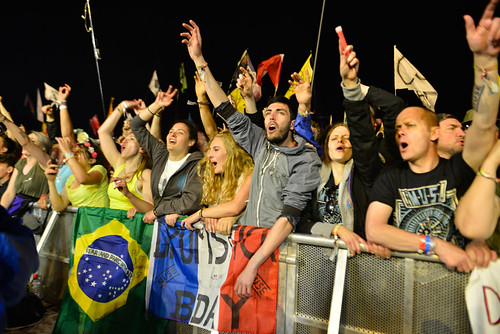 Down front for Muse at Glastonbury 2016 Pyramid Stage (friday) - Sara Bowrey-2