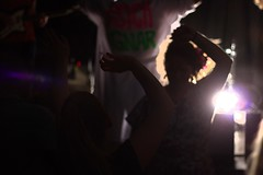 strobe light dancing