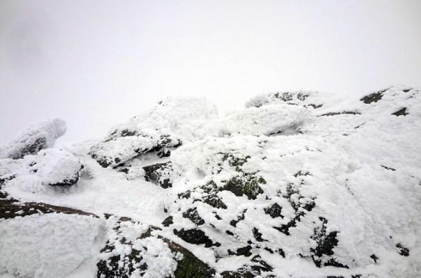 Mt. Monroe Summit in April