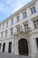 Pálffy Palace where Mozart once also lived