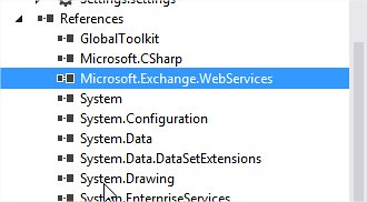 Project Reference contain - Microsoft.Exchange.WebServices