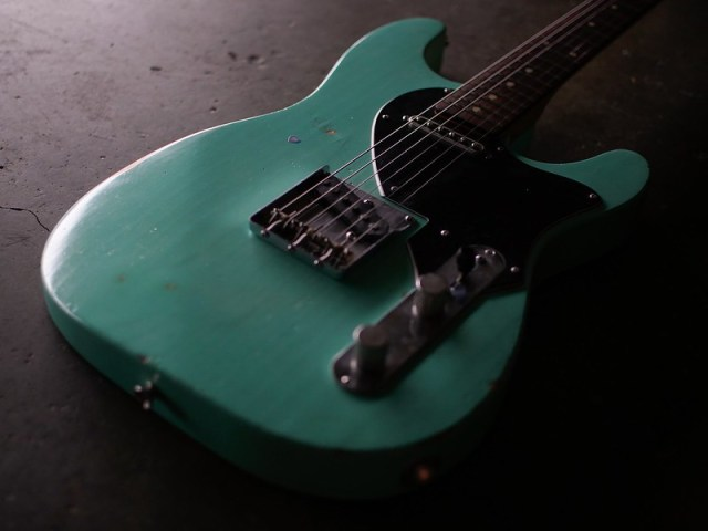 Surf green monster.  Hybrid #stratocaster #telecaster made from parts.