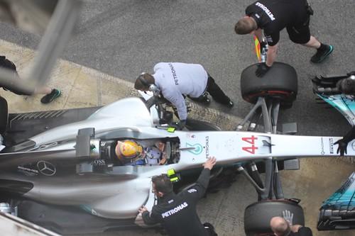 Lewis Hamilton at Formula One Winter Testing 2017