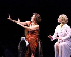 """Lynne Wintersteller as Dorothy Brock (left) and Melissa Lone as Peggy Sawyer in the 2010 Music Circus production of """"42nd Street"""" at the Wells Fargo Pavilion August 24-29.  Photo by Charr Crail."""