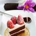 Chocolate and Strawberry Bavarian Cream Layer Cake