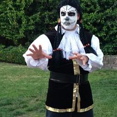 My Dia de.Los Muertos Pirate costume.