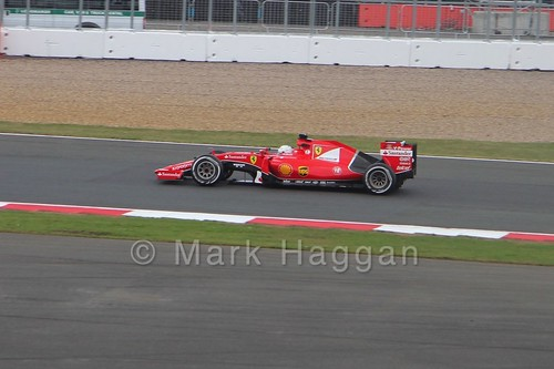 Sebastian Vettel's Ferrari in the 2015 British Grand Prix at Silverstone
