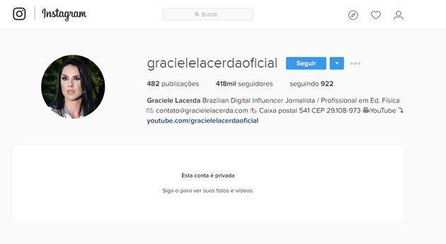 Graciele Lacerda tranca Instagram: 'Pessoas tentando me imitar'