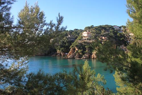 La côte bleue, Ensuès-la-Redonne, du sentier des douaniers