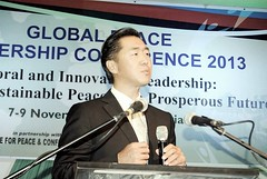 2013 11 Global Peace Leadership Conference Abuja Dr. Moon Speaks