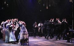 """The wedding scene from the Music Circus production of """"Fiddler on the Roof"""" at the Wells Fargo Pavilion Aug 14-19. Photo by Charr Crail."""